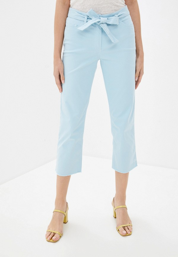 женские прямые брюки gerry weber, голубые