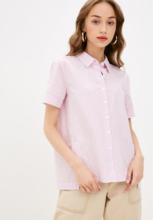 женская рубашка с коротким рукавом gerry weber, розовая