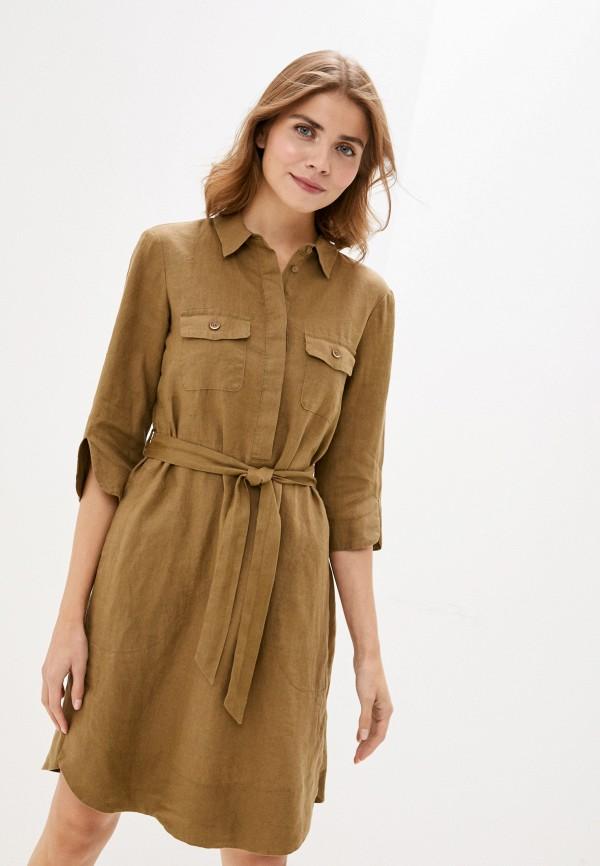 женское повседневные платье gerry weber, хаки