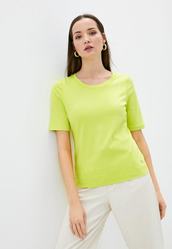 женская футболка gerry weber, зеленая