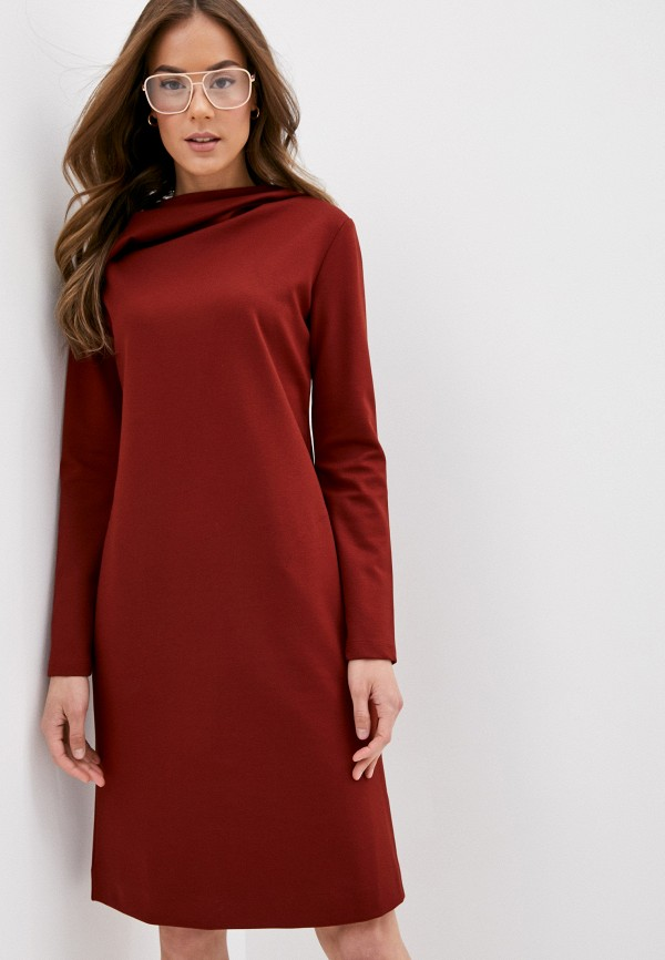 женское повседневные платье gerry weber, бордовое