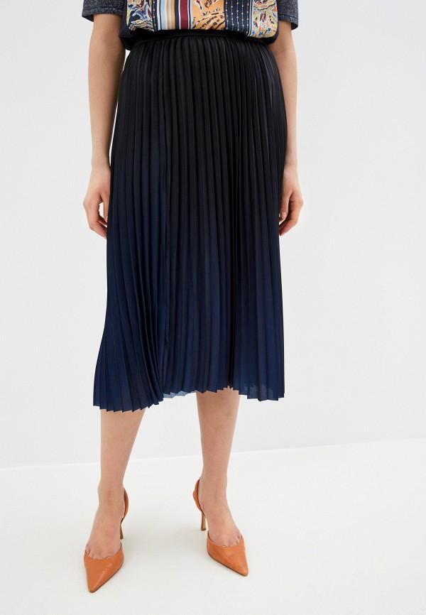 женская плиссированные юбка gerry weber, синяя