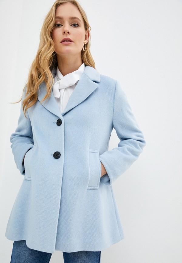 женское пальто gerry weber, голубое