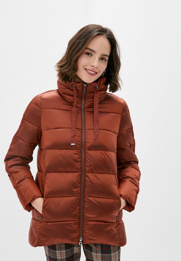 женская утепленные куртка gerry weber, коричневая