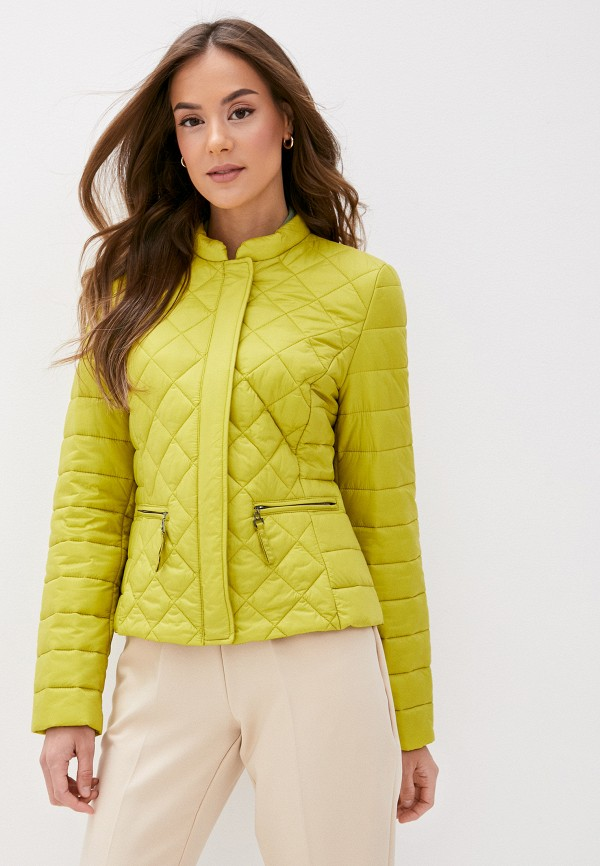 женская утепленные куртка gerry weber, желтая