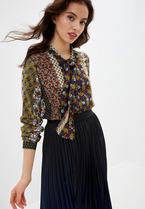 женская блузка с длинным рукавом gerry weber, зеленая