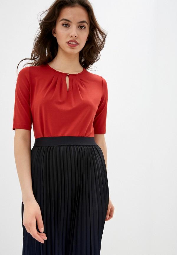 женская блузка с коротким рукавом gerry weber, красная