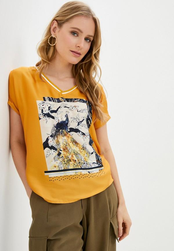 женская футболка gerry weber, желтая