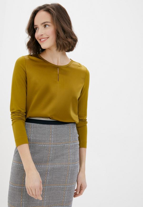 женская блузка с длинным рукавом gerry weber, коричневая