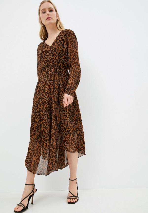 женское повседневные платье gerry weber, коричневое