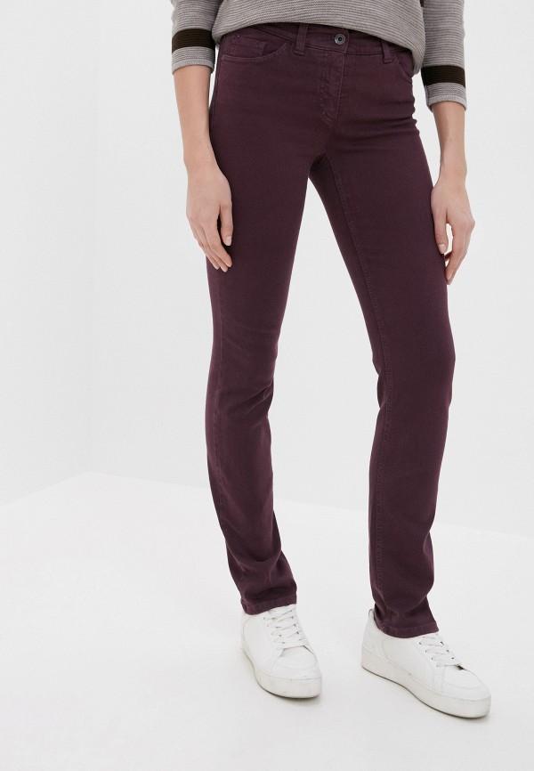 женские повседневные брюки gerry weber, бордовые
