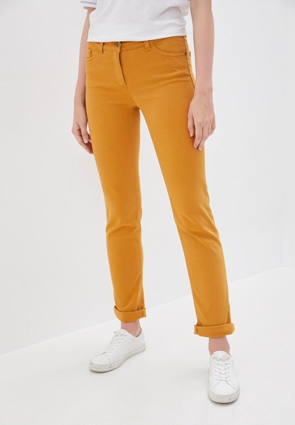 женские повседневные брюки gerry weber, желтые