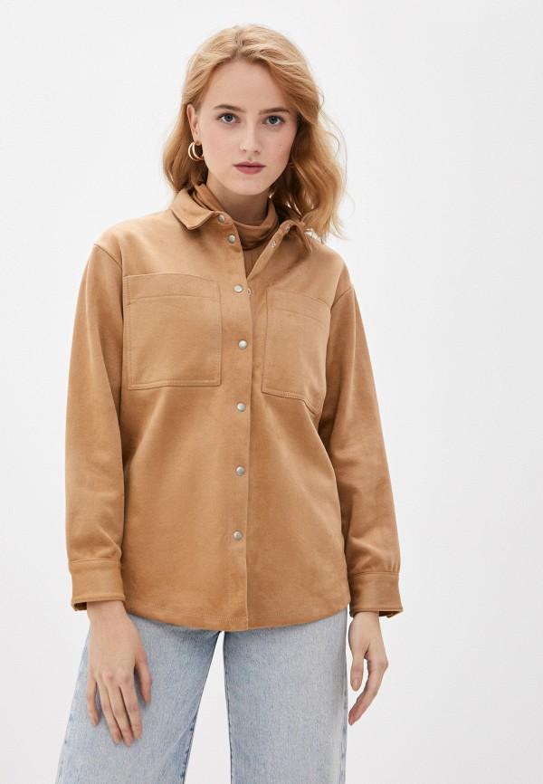 женская рубашка с длинным рукавом gerry weber, бежевая