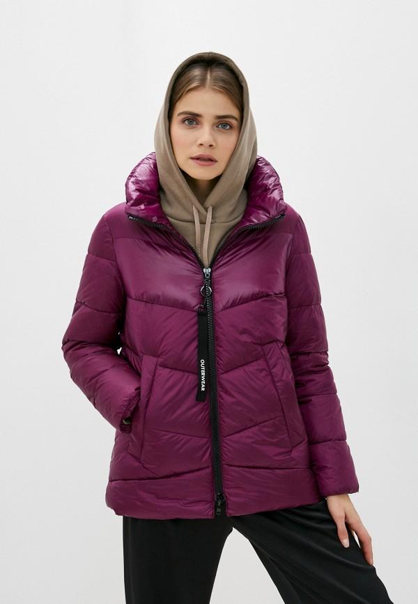 женская куртка gerry weber, фиолетовая
