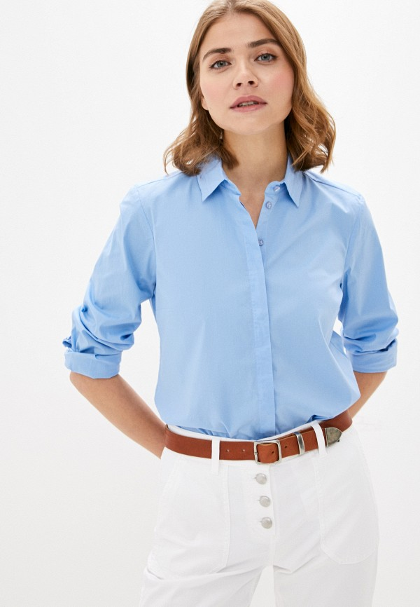 женская рубашка с длинным рукавом gerry weber, голубая