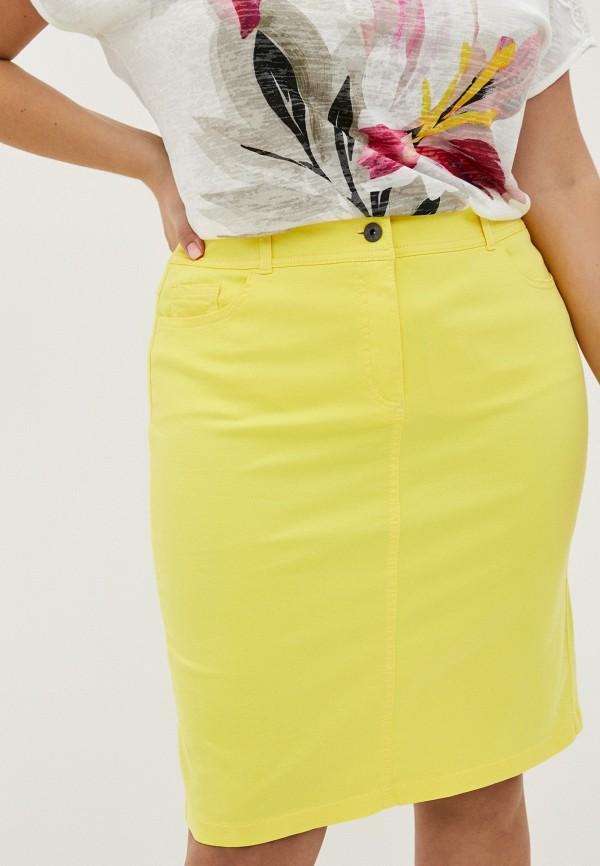 женская прямые юбка gerry weber, желтая