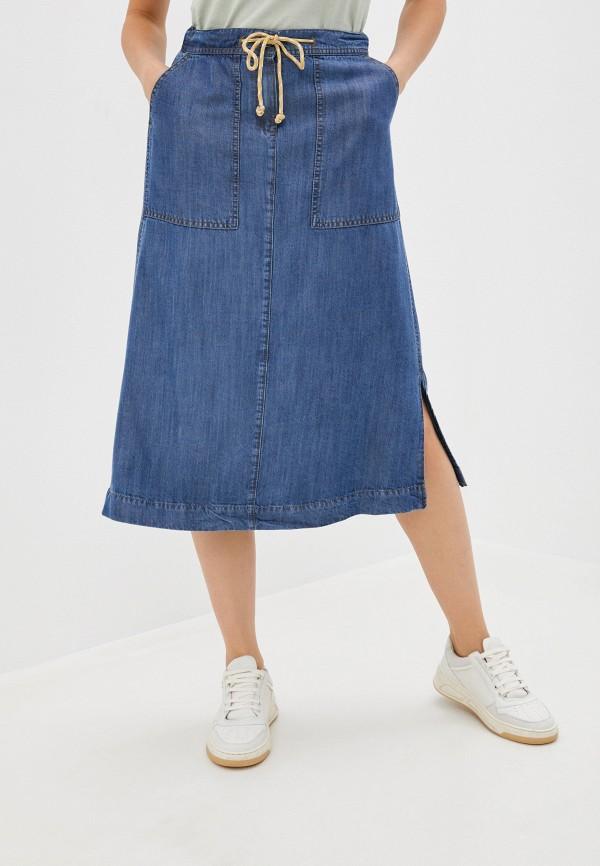 женская джинсовые юбка gerry weber, синяя