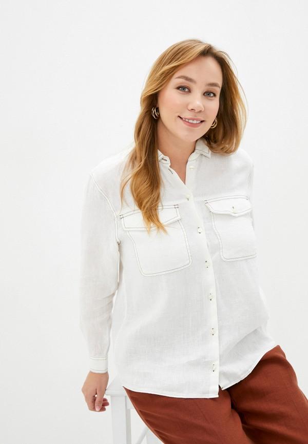 женская рубашка с длинным рукавом gerry weber, белая