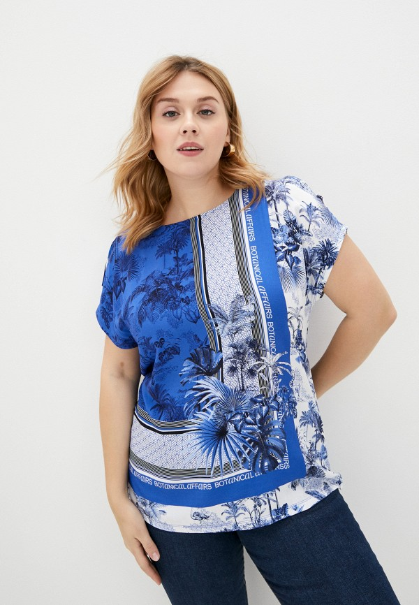 женская футболка gerry weber, синяя