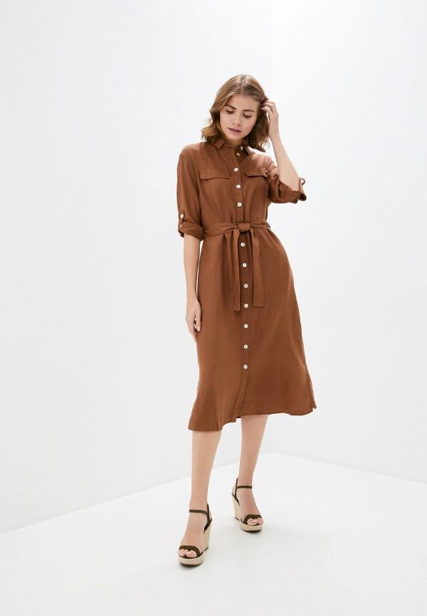 женское платье gerry weber, коричневое