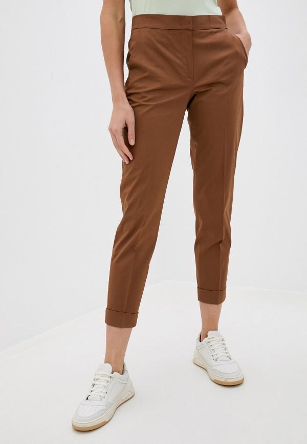 женские зауженные брюки gerry weber, коричневые