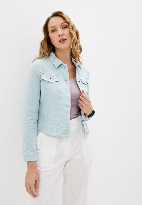женская джинсовые куртка gerry weber, бирюзовая