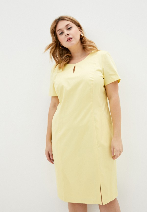 женское платье-футляр gerry weber, желтое