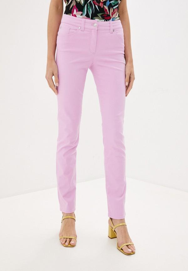женские прямые брюки gerry weber, розовые