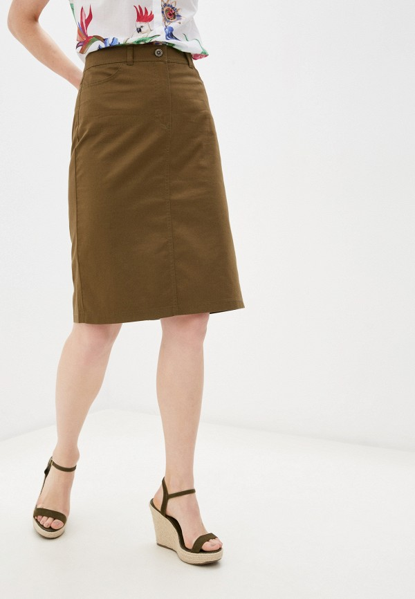 женская юбка gerry weber, хаки