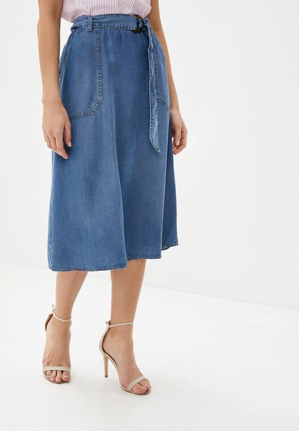 женская джинсовые юбка gerry weber, голубая