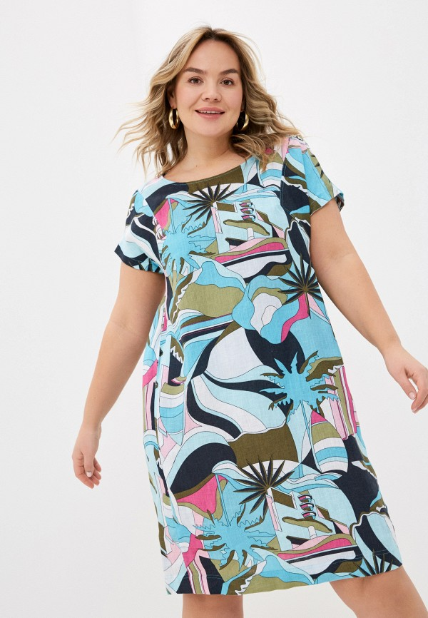 женское повседневные платье gerry weber, разноцветное