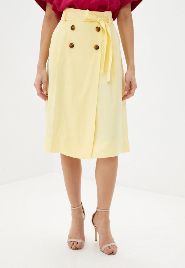 женская юбка-трапеции gerry weber, желтая