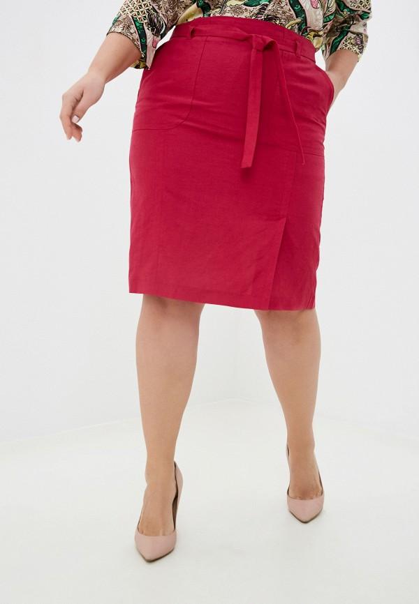 женская прямые юбка gerry weber, розовая