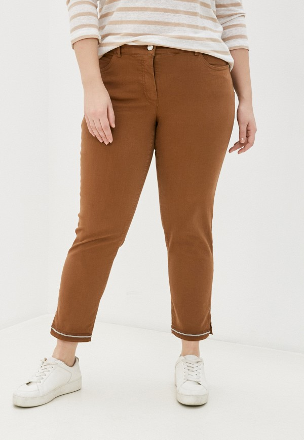 женские прямые брюки gerry weber, коричневые