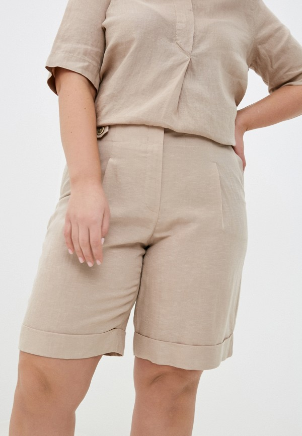 женские повседневные шорты gerry weber, бежевые