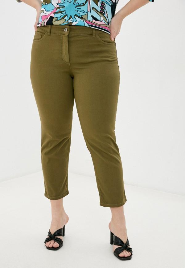 женские прямые брюки gerry weber, хаки