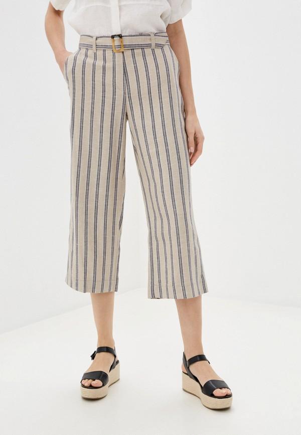 женские брюки клеш gerry weber, бежевые