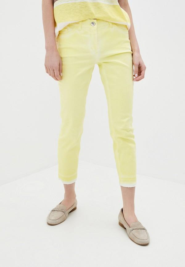 женские зауженные брюки gerry weber, желтые