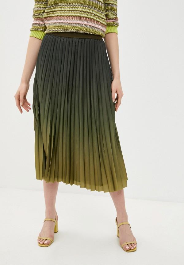 женская плиссированные юбка gerry weber, хаки