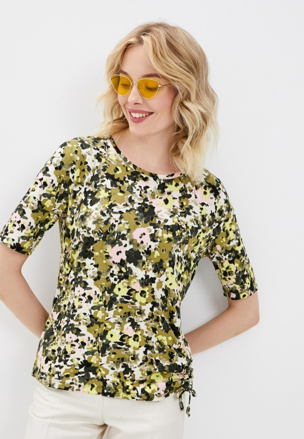женская футболка gerry weber, хаки