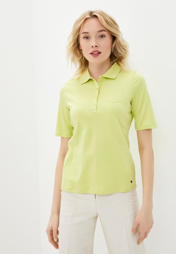 женское поло gerry weber, зеленое