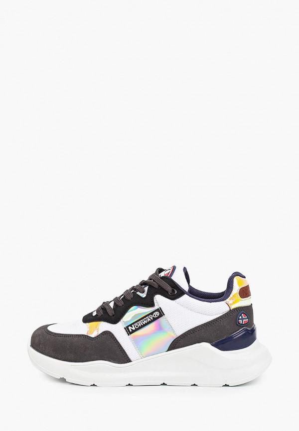 женские кроссовки geographical norway, разноцветные