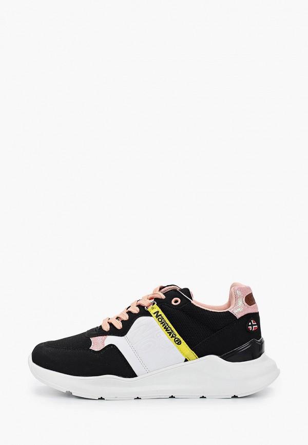 женские кроссовки geographical norway, черные