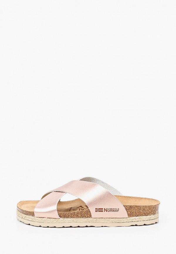 женское сабо geographical norway, розовое