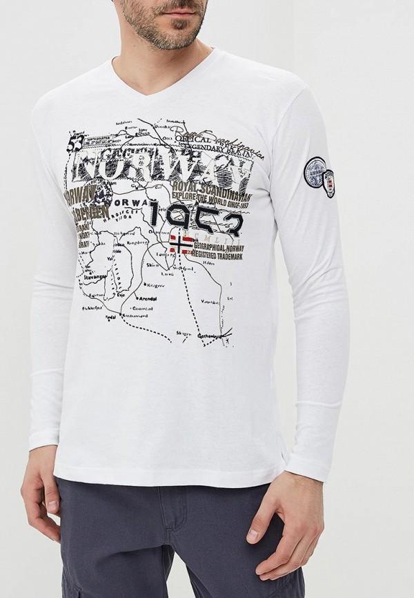 Купить Лонгслив Geographical Norway, ge015ematio9, белый, Весна-лето 2018