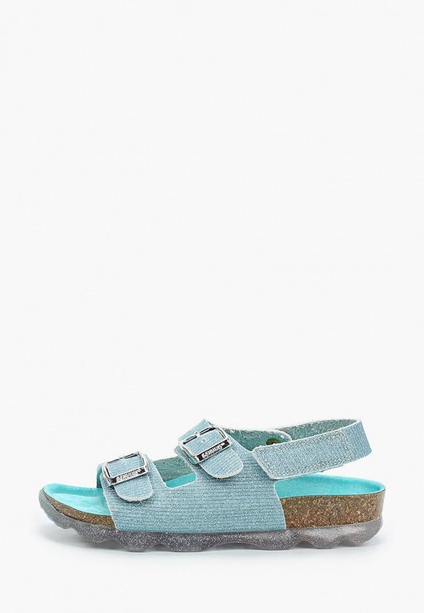 сандалии genuins для девочки, голубые