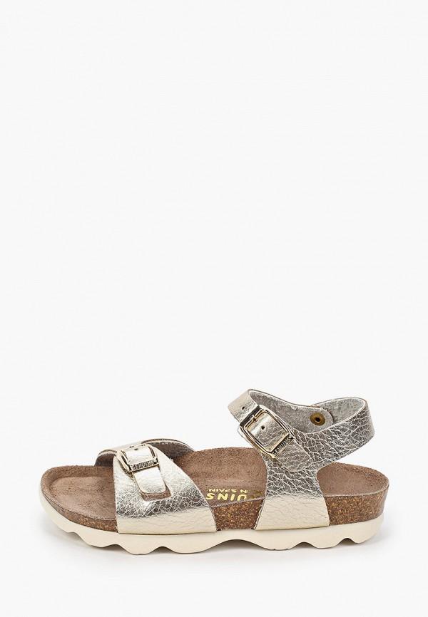 сандалии genuins для девочки, золотые