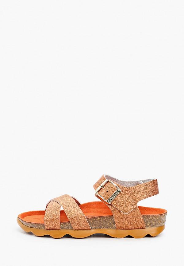 сандалии genuins для девочки, оранжевые