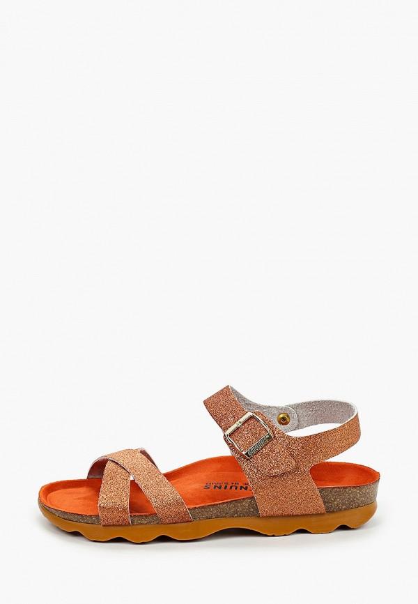 сандалии genuins для девочки, коричневые
