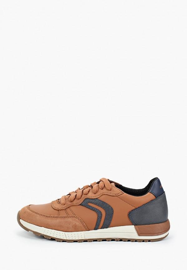 кроссовки geox для мальчика, коричневые